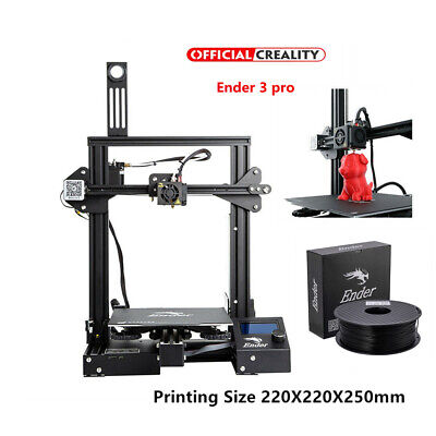 Creality Ender 3 Pro 3D Printer + 1KG PLA Black 220X220X250mm Mean Well Power