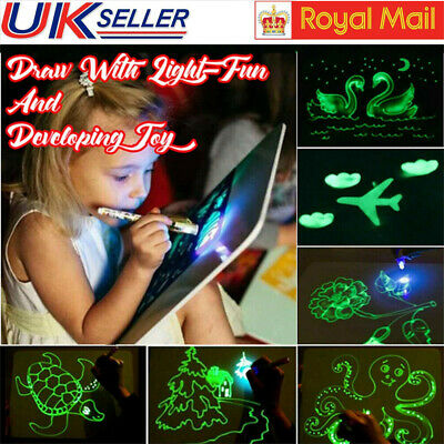 Draw With Light Fun And Developing Education Toy Drawing Board Kids Magic Draw