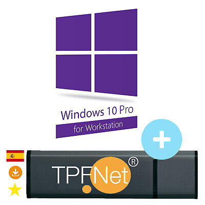 Windows 10 Pro Workstation 32/64 Bit Clave de Licencia Memoria USB de TPFNet®
