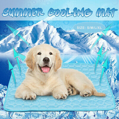 Summer Pets Cooling Chilly Mat Cool Pad Bed Dog Heat Relief Mat SALE TOP