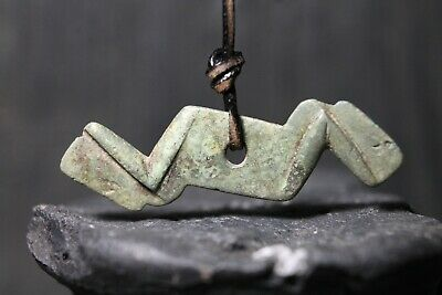 Ancient Amulet Lightning, Viking Pendant, Authentic Artifact, 6-11th Century AD.