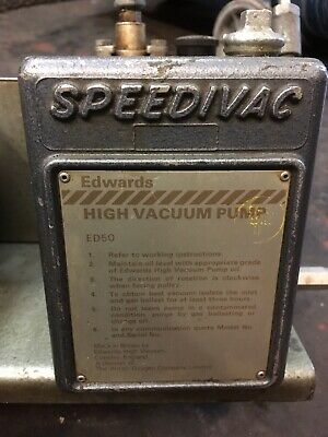 Edwards Speedivac Ed50 Rotary Vane High Vacuum Pump