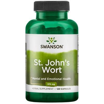 St John's Wort 375mg 120 Capsules Low Mood Aid Swanson