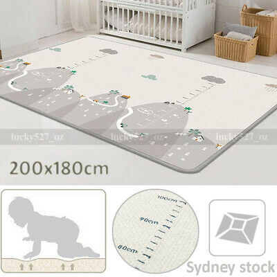 200x180cm Baby Crawling Thick Play Mat Game Foam Rug Children Carpet Floorcover