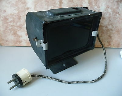Old Darkroom Lamp / Erich Kontny Dresden Orwo Protection Filter 1950er Years