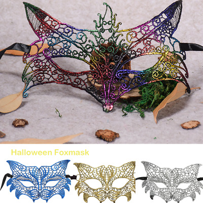 Masquerade Lace Mask Catwoman Halloween Cutout Prom Party Princess Patch Mask
