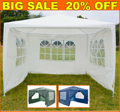 3x3m Waterproof  Gazebo Outdoor Patio Garden Marquee Canopy Party Tent W/ 4Sides
