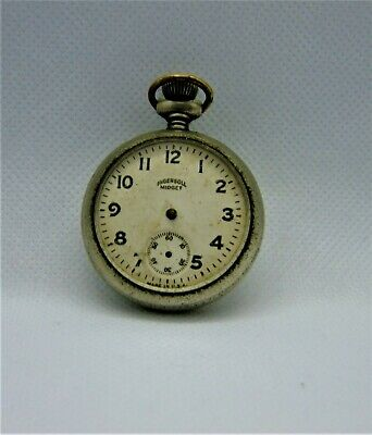 Antique Ingersoll Midget pocket watch  for parts or repair