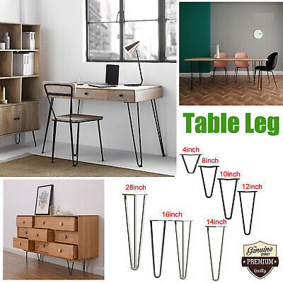 4PCS Hairpin Legs / Hair Pin Legs Set Heavy Duty Fit Furniture Bench Desk Table