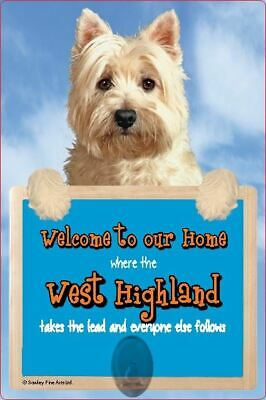 Scottish Collectables West Highland Terrier 3D Lead Hanger Wall Plaque