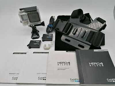 GoPro Hero 4 SILVER & CHESTY Action Cam TOUCHSCREEN IDEAL FOR ASSAULT COURSE