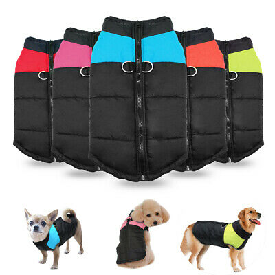 Small to Large Dogs Winter Clothes Waterproof Warm Padded Pet Coats Vest Jacket
