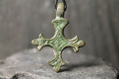 Ancient Rare Viking Bronze Christian Cross, Orthodox Pendant, 9-11th century AD