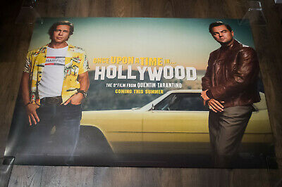 """ONCE UPON A TIME IN HOLLYWOOD B 30"""" x 40"""" Uk Quad Movie Poster Original 2019"""