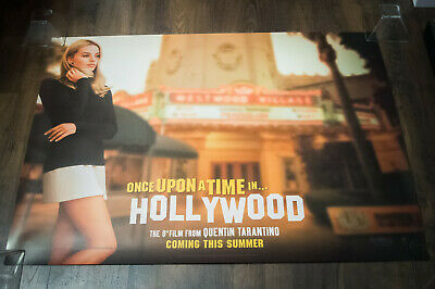 """ONCE UPON A TIME IN HOLLYWOOD A 30"""" x 40"""" Uk Quad Movie Poster Original 2019"""