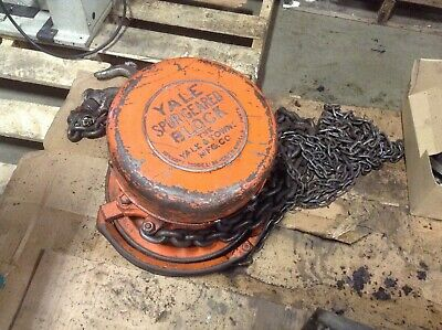Yale Spur Geared Block Model BB Chain Hoist Manual Hand Wheel (TSC)