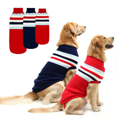 Pet Dog Knitted Sweater Clothes Small Large Dog Jumper Warm Winter Coat Labrador