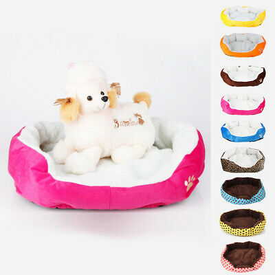 Pet Dog Cat Puppy Soft Fleece Warm Nest Bed Waterloo House Mat with Pad Small M