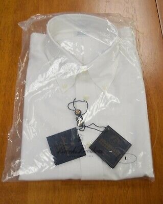NWT Brooks Brothers Non-Iron Button Down White Long Sleeve Regent Fit Shirt $92