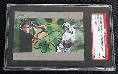 Roger Federer 2008 Ace Authentic Signed Autographed Card D3 Tennis Sgc Authentic
