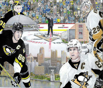 "CROSBY *  LEMIEUX  * FLEURY  8"" X 10"" Glossy NHL Photo Pittsburgh Penguins"