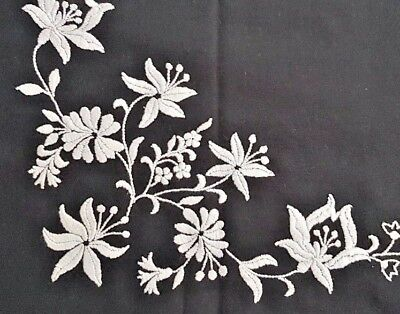 Hungarian Vintage BLACK & WHITE HAND EMBROIDERED table runner EASTER GIFT