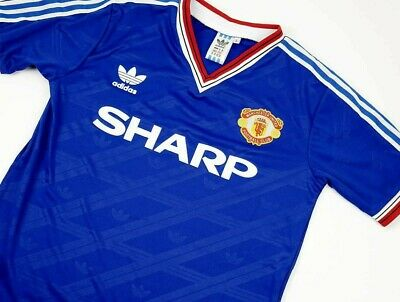 Manchester United FOOTBALL SHIRT  JERSEY RETRO 1986 SIZES SMALL TO XL