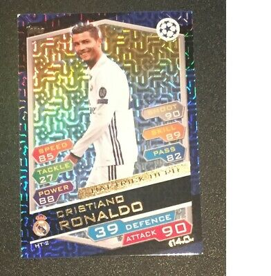 Match Attax Champions League 2016/2017 Cristiano Ronaldo Hat-Trick hero card