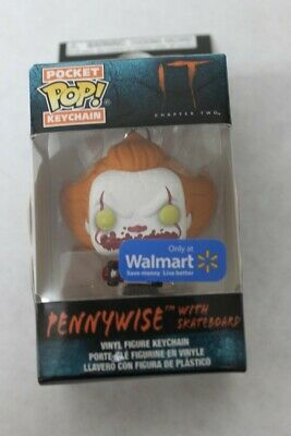 Funko POP! Pocket Keychain Pennywise It Chapter Two with Skateboard Walmart New