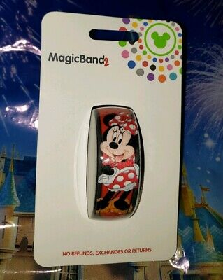 Disney Parks MINNIE MOUSE POLKA DOT BOW Red Magic Band Magicband 2 New