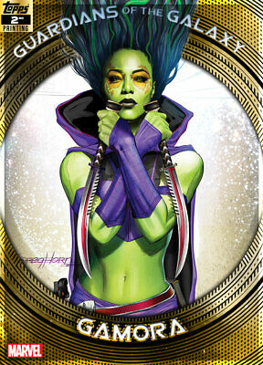 Topps Marvel Collect Gamora GUARDIANS GALAXY GOLD 2nd Printing [DIGITAL] 750cc