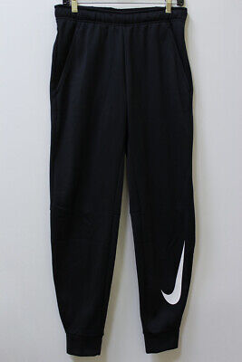 Nike Therma Dri-Fit Swoosh Training Pants Black Joggers Tapered Sweatpants Mens