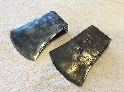 2 Vintage Axe Heads; 4 1/2lb; Old Tool; Collectable