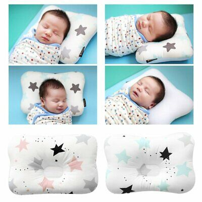 Baby Infant Newborn Prevent Flat Head Neck Syndrome Support Square Pillow EU