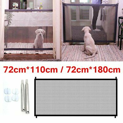 Safety Enclosure Dog Gate Barrier Mesh Safe Pet Anywhere Magic Guard&Install EU