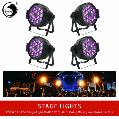 4PCS U`King Par Stage Light 4 in1 LED 270W DMX 512  RGBW DJ Disco Party Wedding