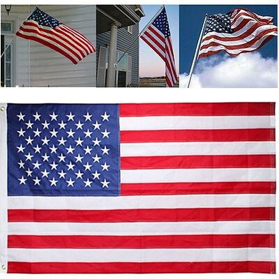 3'x5' FT American Flag Patriotic USA US United Stripes Stars Brass Grommets.