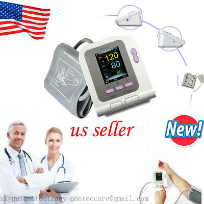 US Digital Arm Blood Pressure Monitor Heart Beat Meter Portable Home Care,SW,FDA