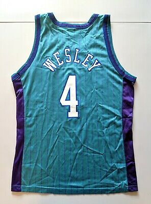 low priced e2e0d 653bf DELL CURRY CHAMPION CHARLOTTE HORNETS Jersey 44 NBA MINT ...