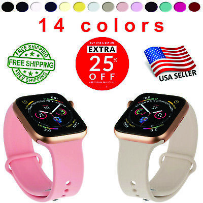 NEW APPLE WATCH BANDS SILICONE BRACELET FOR Series 4/3/2/1 & 38mm/42mm iWatch