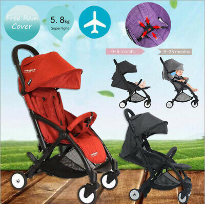 Foldable Baby Stroller Pram Compact Lightweight Jogger Travel Carry-on Boarding