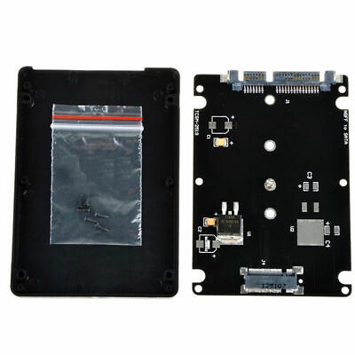Black Socket2 B + M key M.2 NGFF (SATA) SSD to 2.5 SATA Adapter Card W/Case AU