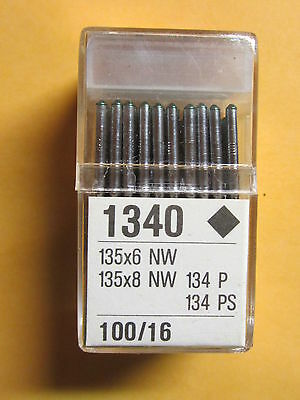 100-135x6, 135x8, 134 P(135x5 leather) Sewing Machine Needles Singer sz. 16