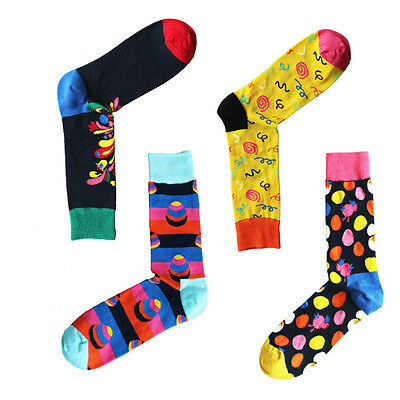 NEW Mens Combed Cotton Socks Warm Funny Fancy large Size Dress Socks For Wedding