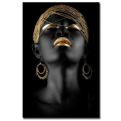 New Decorative African Women's Modern Cubism HD Art Canvas Prints Paintings Home