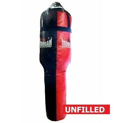 MORGAN Angle Punch Bag Muay Thai Boxing MMA Punching Bag  Red/Black UNFILLED