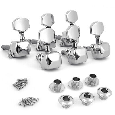 Acoustic Guitar String Semiclosed Tuning Pegs Tuners Machine Heads 3L3R Chrome