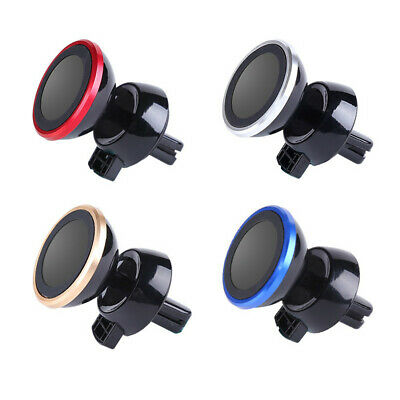 In Car Magnetic Phone Holder Fits Air Vent Universal Mount Various Colours T4V9L