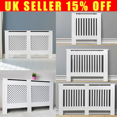 Chelsea Oxford Radiator Cover Modern MDF Floor Standing White Grill Wood Cabinet