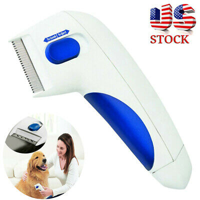 Flea Doctor Electric Dog Comb Brush Cat Pets Head Lice Remover Anti Control SL